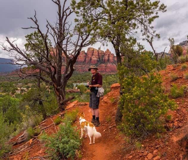 On the hiking trail in Sedona Arizona-min