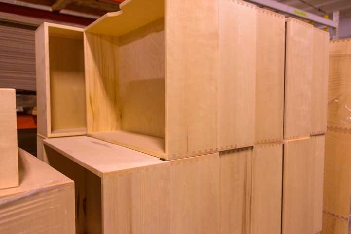 Dovetaile joints on drawers in Luxe Fifth wheel toy hauler RV-min