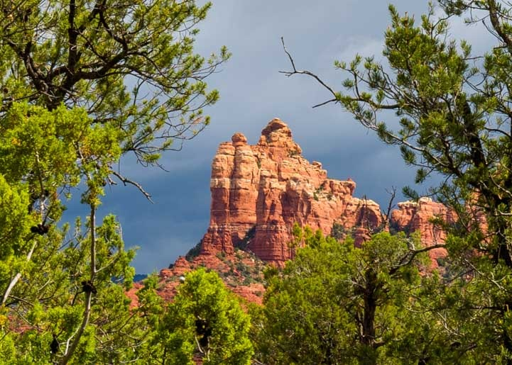 Sedona Arizona red rock spire-min