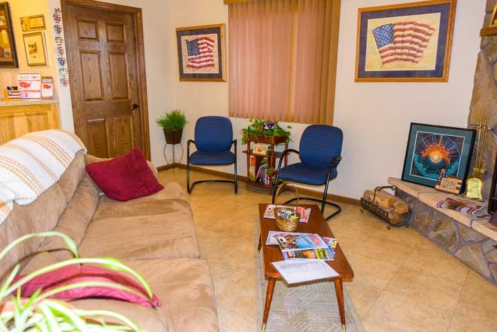 Waiting room Americas Mailbox Mail Forwarding Service for full-time RV travelers Rapid City South Dakota-min