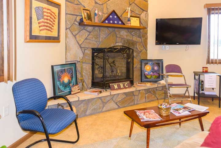 Waiting area Americas Mailbox Mail Forwarding Service for full-time RV travelers Rapid City South Dakota-min