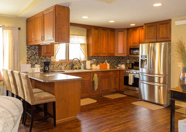Hotel room kitchen Americas Mailbox Mail Forwarding Service for full-time RV travelers Rapid City South Dakota-min