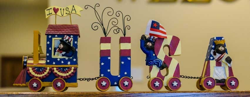 I Love USA train decoration-min