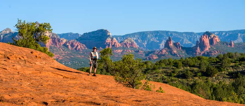 Views on hiking Broken Arrow Trail Sedona Arizona-min