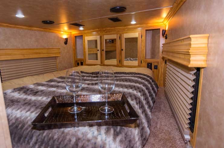 Sundowner Toyhauler RV Bedroom-min