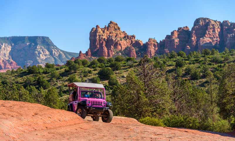 Pink Jeep Tour Broken Arrow Trail Sedona Arizona-min