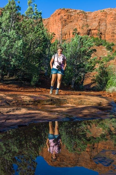Red rock reflections in Sedona Arizona hike-min