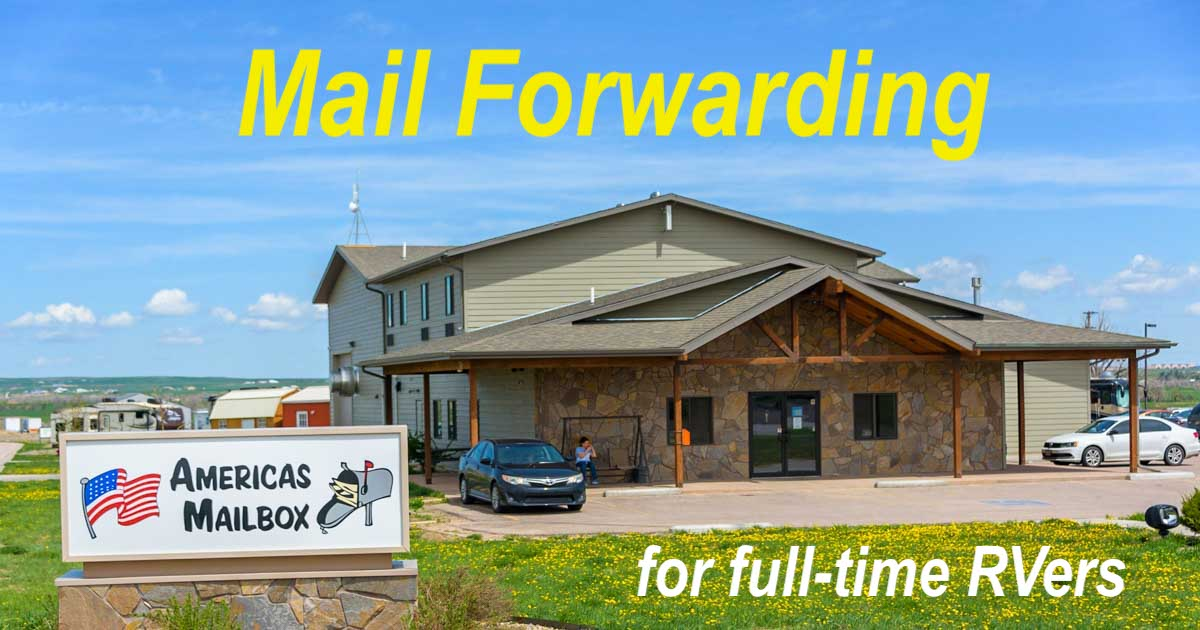 Americas Mailbox Mail Forwarding for Full-time RVers and RV travelers