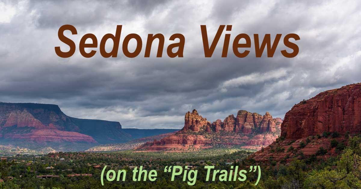 Sedona Arizona Pig Trail Hikes in red rocks on an RV trip-min