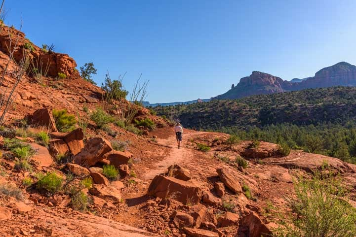 Slilckrock section of Templeton Trail Hike to Cathedral Rock in Sedona Arizona-min