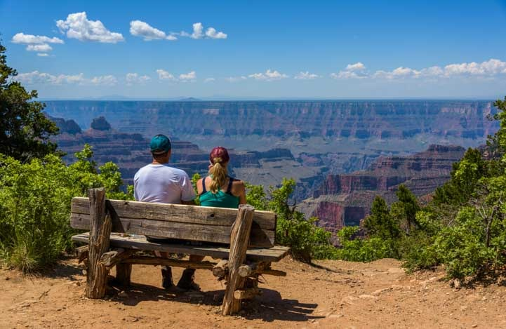 Admiring the view Grand Canyon North Rim_-min