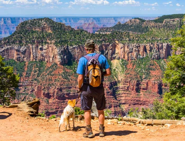 Admiring the view Grand Canyon North Rim-min