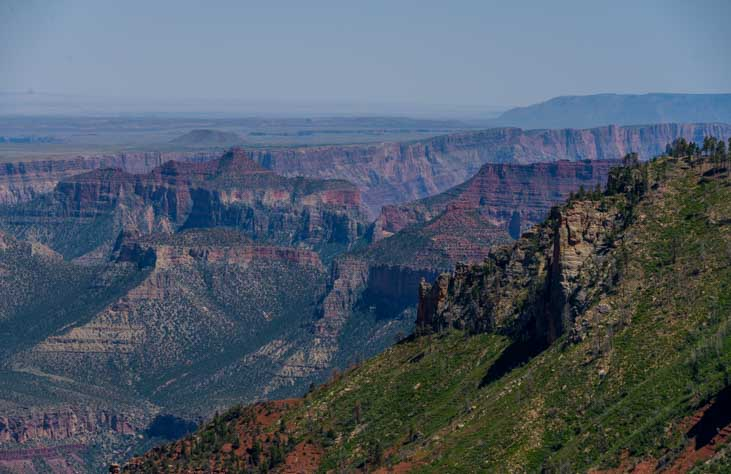 Saddle Mountain overlook on the Colorado River at Grand Canyon-min