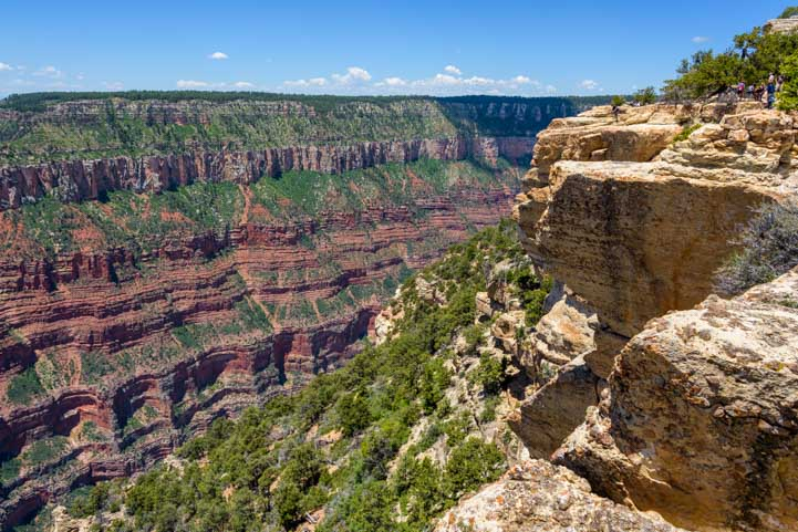 Grand Canyon North Rim Arizona Bright Angel Point Trail View-min