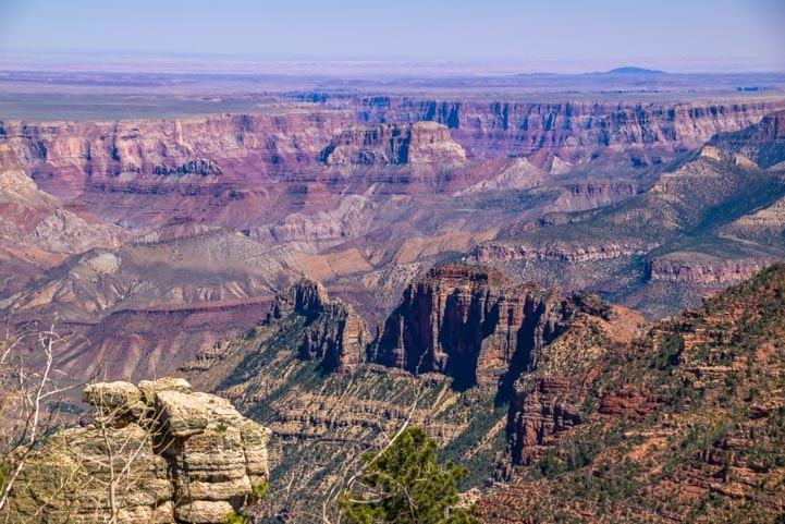 Grand Canyon view from Saddle Mountain in Arizona-min