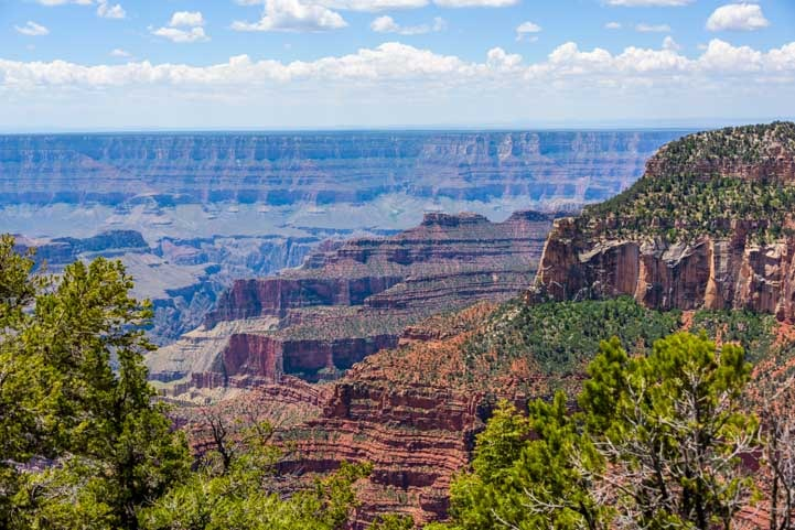 Grand Canyon North Rim Arizona Bright Angel Point Trail-min
