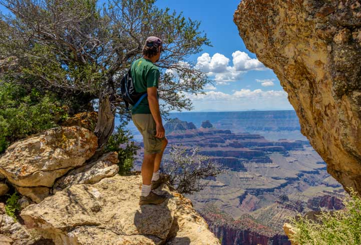 View from Grand Canyon North Rim Arizona Bright Angel Point Trail-min