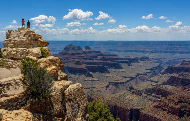 Majestic view Grand Canyon North Rim Arizona Bright Angel Point Trail-min