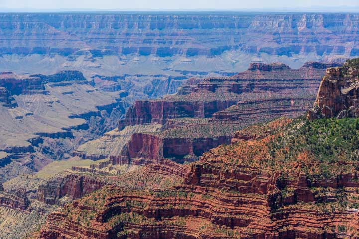 View on Bright Angel Point Trail Grand Canyon North Rim Arizona-min