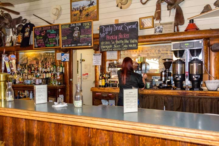 Espresso drinks and craft beer on tap at Roughrider Saloon and Coffee Saloon Grand Canyon Lodge at the North Rim-min