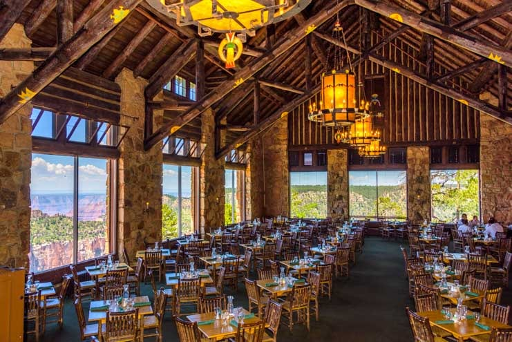 Grand Canyon Lodge Dining Room at the North Rim-min