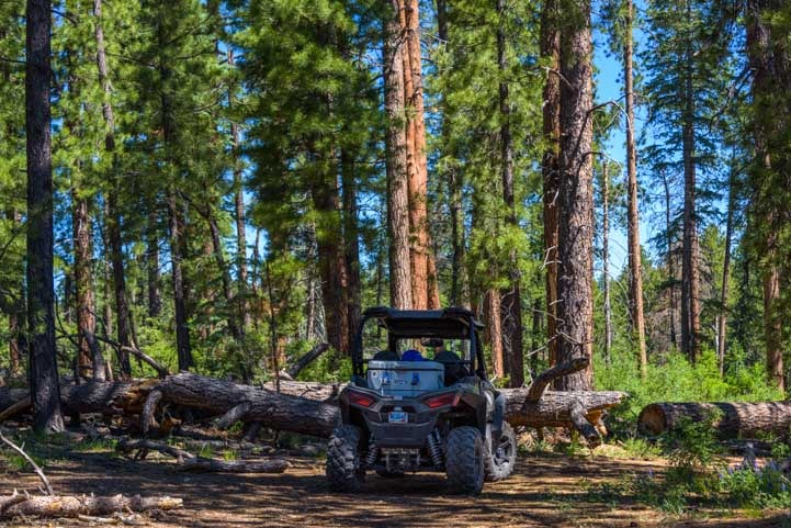 Polaris RZR ride to Point Sublime Overlook at North Rim Grand Canyon Arizona-min