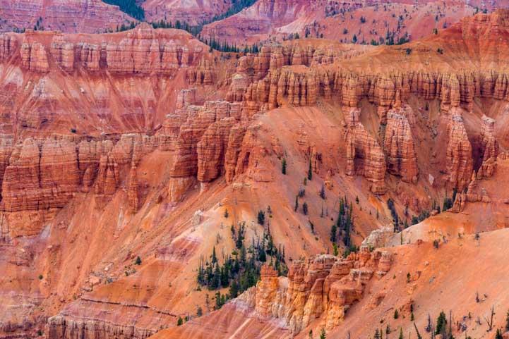 Red rock pinnacles Cedar Breaks National Monument Utah-min