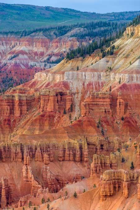 Brilliant red rocks Point Supreme Cedar Breaks National Monument Utah-min
