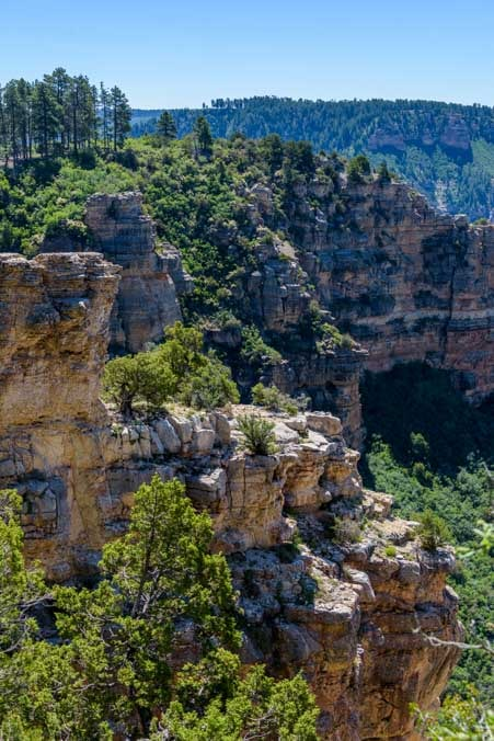 Limestone cliffs near Point Sublime Grand Canyon Arizona North Rim-min
