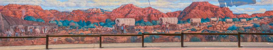Mural Wagon trains arrive at Fort Kanab_-min