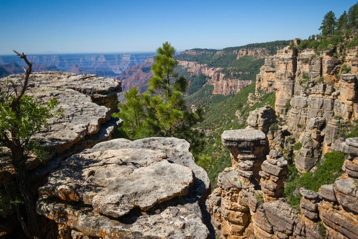 Exploring Grand Canyon overlooks near Point Sublime-min