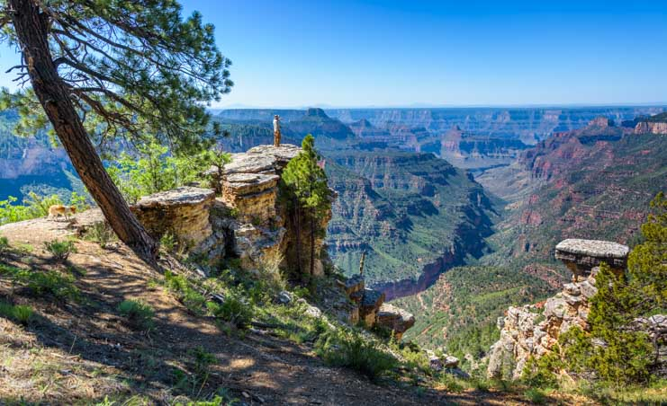 Grand Canyon view just before Pt. Sublime at North Rim-min