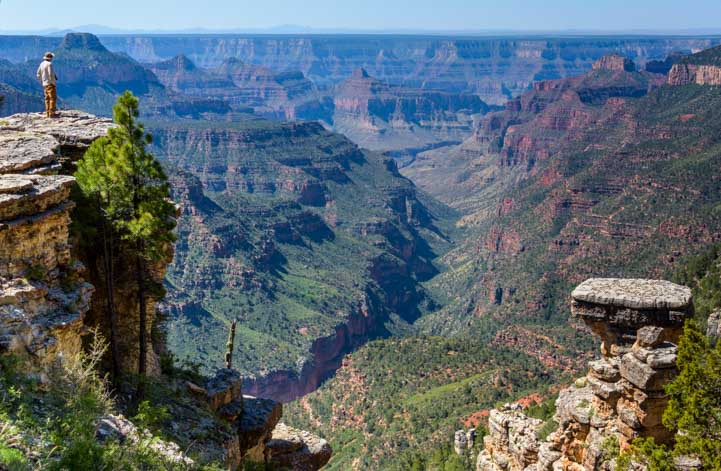 Overlook near Point Sublime at North Rim Grand Canyon Arizona-min