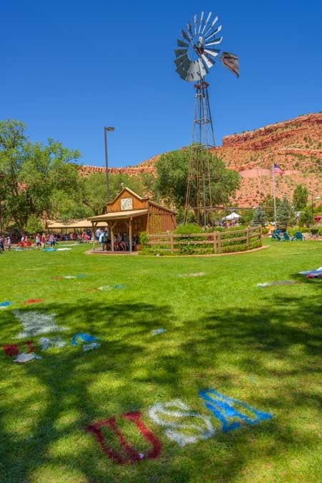 4th of July party in the park Kanab Utah-min