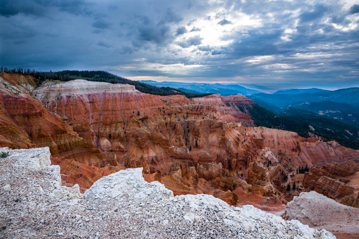 Monsoon light Cedar Breaks National Monument in Utah81-min