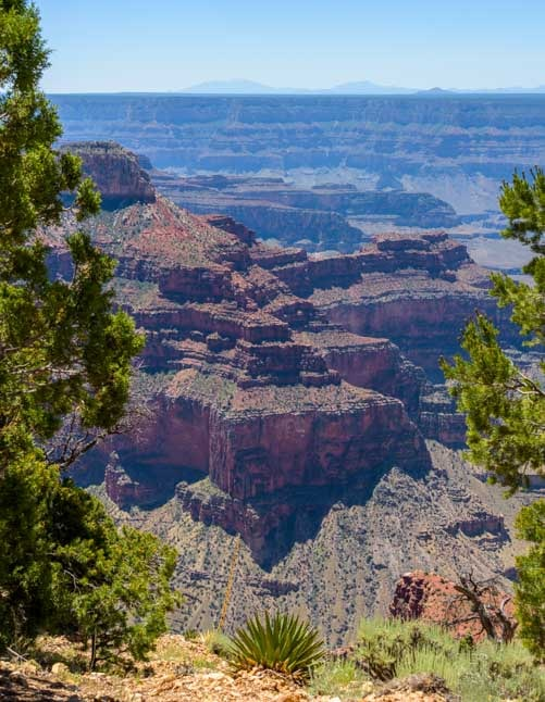 First glimpse at Point Sublime Grand Canyon North Rim-min