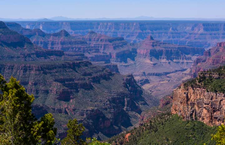 Point Sublime Overlook at North Rim Grand Canyon Arizona-min
