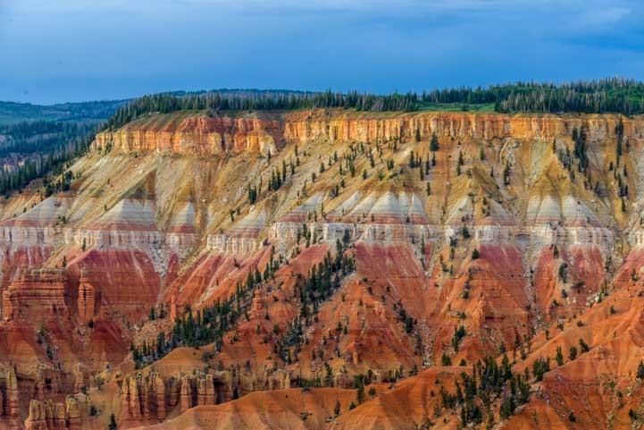 Vivid colors Point Supreme Cedar Breaks National Monument Utah-min