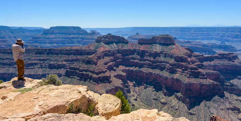 Photographer at Point Sublime Overlook Grand Canyon North Rim-min