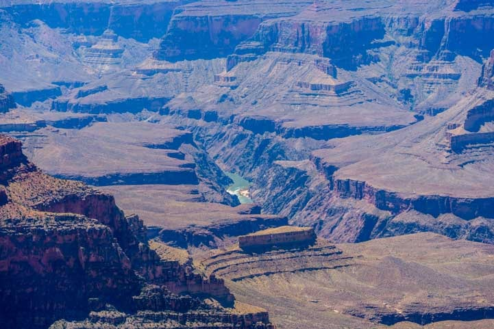 View of Rapids on Colorado River at Point Sublime Grand Canyon North Rim-min