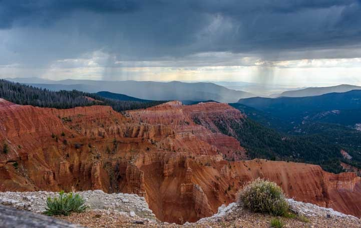 Storm clouds at Cedar Breaks National Monument Utah-min