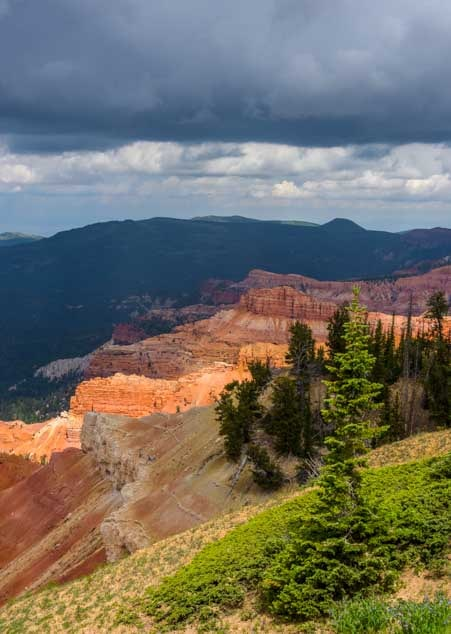 Cedar Breaks National Monument Utah storm clouds-min