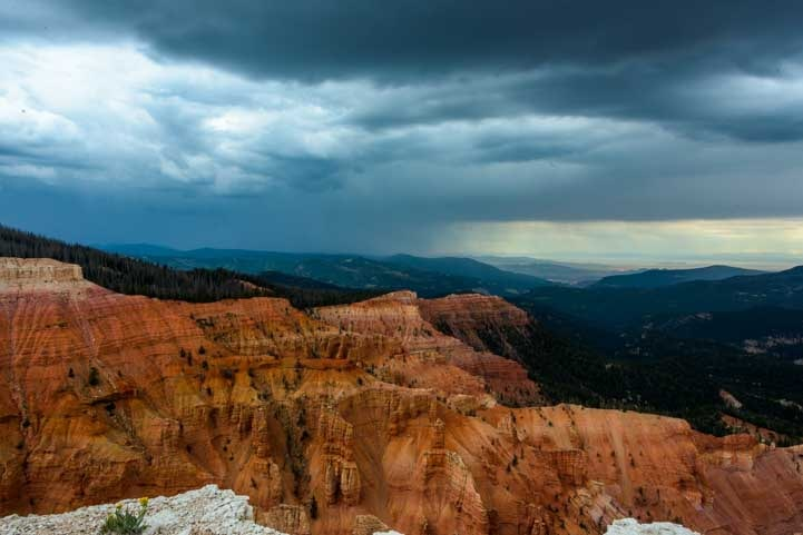 Storm clouds over Cedar Breaks National Monument-min