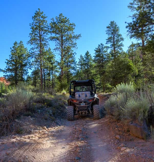 Two track ATV trail in Casto Canyon Utah-min