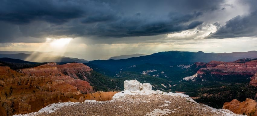 Wild skies Cedar Breaks National Monument Utah-min