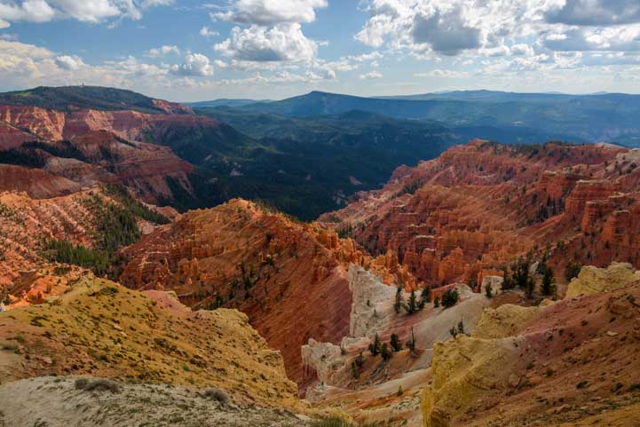 Cedar Breaks National Monument Utah clouds parting-min