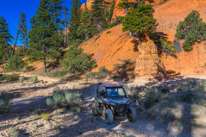 UTV Polaris RZR ride in Casto Canyon Utah-min