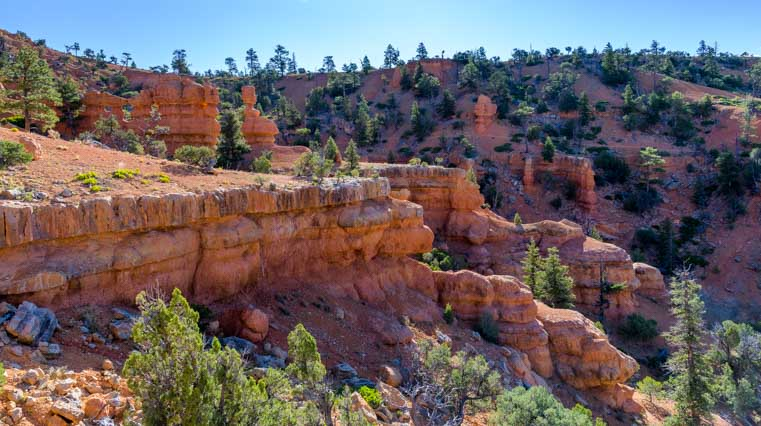 View from the top of Arches Trail Red Canyon Utah-min