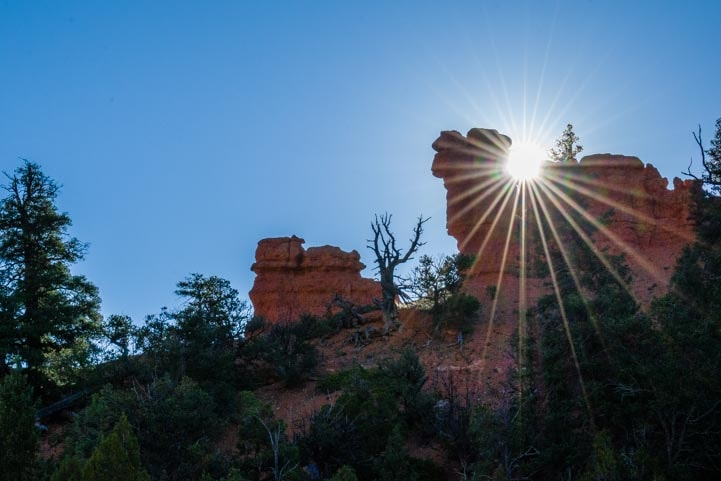 Sunrise in the red rocks of Casto Canyon Utah-min