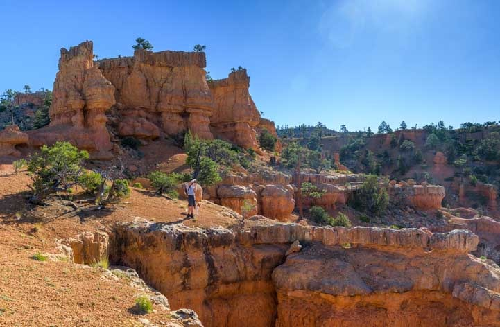 Views on Arches Trail Red Canyon Utah-min